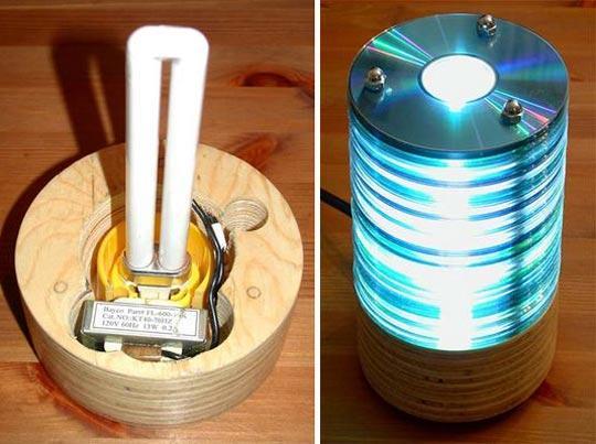 Светильники из компакт-дисков своими руками